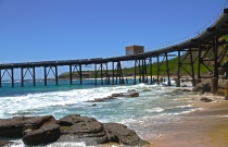 The Catherine Hill Bay jetty used for the purpose of coal mining in the 1800's