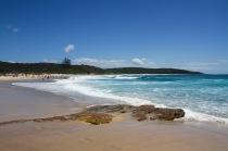 The beautiful Catherine Hill Bay beach.